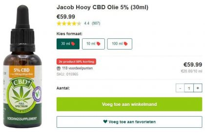 Jacob Hooy CBD Olie 1